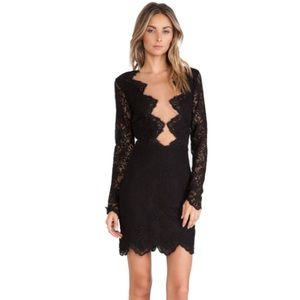• For Love and Lemons black lace dress size S •